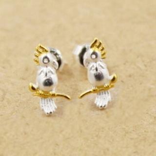 【米蘭精品】耳環流行銀飾品耳針式耳飾(時尚樹枝幸福小鳥母親節生日情人節禮物2色73ag11)