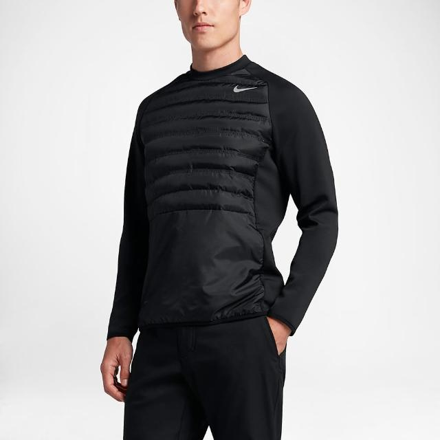 【Nike Golf】AEROLOFT HYPERADAPT CREW 運動保暖上衣(黑801894-010)