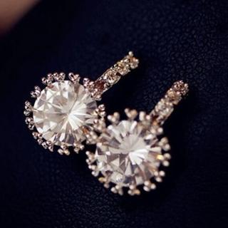 【米蘭精品】耳環流行銀飾品鑲鑽耳飾(精緻時尚高雅母親節生日情人節禮物73ag121)