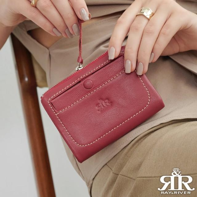 【2R】温柔松软Leather羊皮短夹 甜梅紫