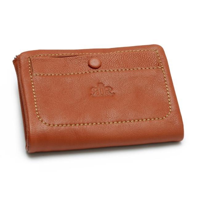 【2R】温柔松软Leather羊皮短夹 爱玛橘