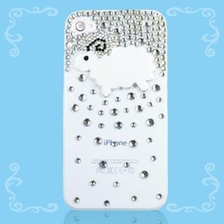 【Aztec】水鑽 iPhone6/6s 4.7吋 透明手機殼(水鑽綿羊)