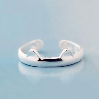 【米蘭精品】戒指流行銀飾品(貓耳造型獨特可愛百搭七夕情人節生日禮物73ae179)