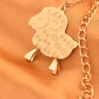 【米蘭精品】玫瑰金項鍊吊墜子(可愛銅錢小綿羊流行飾品情人節生日禮物71x97)