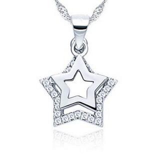 ~米蘭 ~星星項鍊 銀飾品  非凡母親節生日情人節 73v60