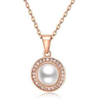 【米蘭精品】珍珠項鍊流行銀飾品(簡約精緻母親節生日情人節禮物73v95)
