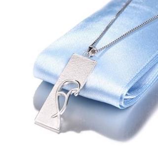 【米蘭精品】心型項鍊流行銀飾品(吊牌母親節生日情人節禮物73v147)