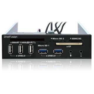 【伽利略】5.25吋多介面整合器 ATM讀卡機+USB 2.0+3.0 HUB+AUDIO(RHU03)
