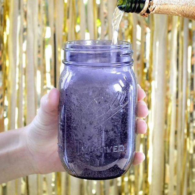 【美國製造Ball】經典復刻 16oz 紫色窄口玻璃瓶(6入)
