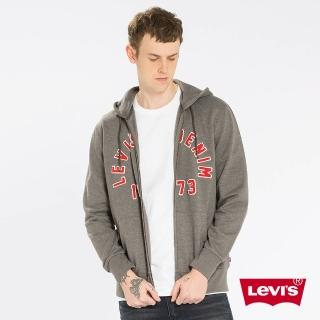 【Levis】長袖連帽外套 / 貼布LOGO / 灰色