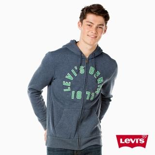 【Levis】長袖連帽外套 / 貼布LOGO / 藍色