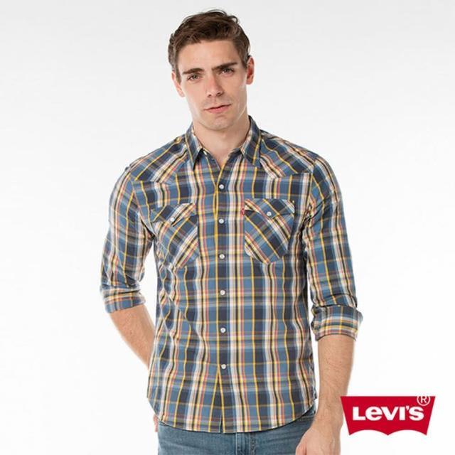 【Levis】BARSTOW 長袖襯衫 / 格紋 / 珍珠扣