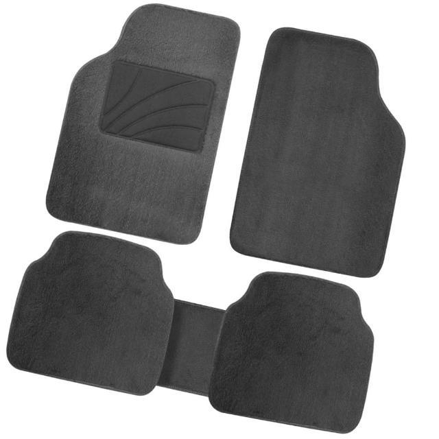 高密度超長絨毛車用地毯踏墊-黑色