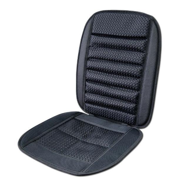 【YARK】薰衣草竹碳坐墊-黑色(汽車|椅墊|腰靠)