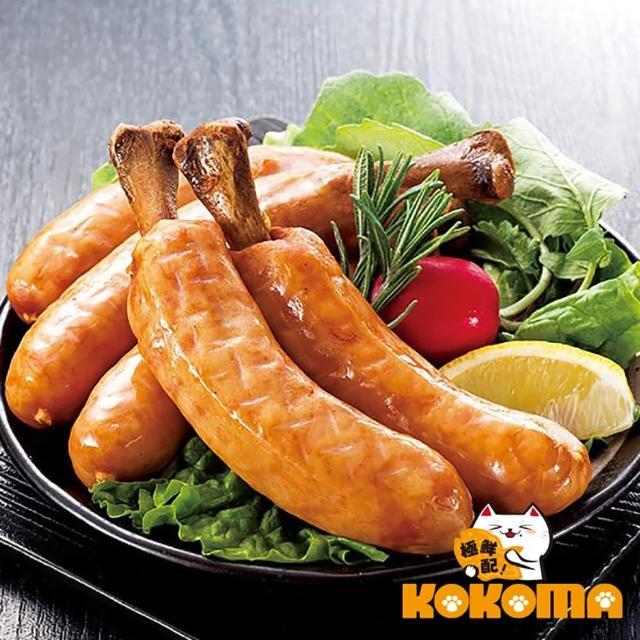 【極鮮配】米其林5入帶骨德式香腸(375g±10%/包-4包)