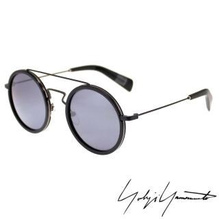 【Yohji Yamamoto 山本耀司】時尚前衛太陽眼鏡(黑 YY5010-002)