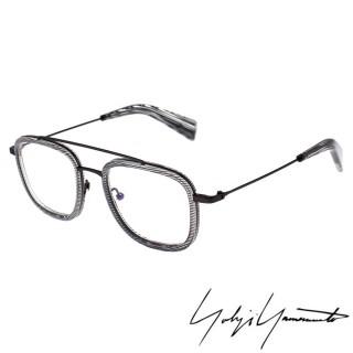 【Yohji Yamamoto 山本耀司】方型時尚前衛光學眼鏡(透明灰-YY1026-950)