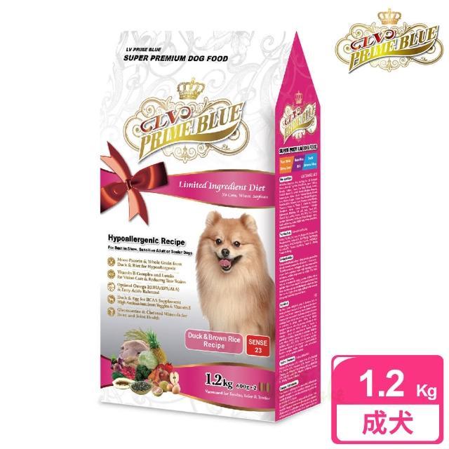 【LV藍帶精選】低敏成犬-冠軍犬-鴨肉 1.2kg(鴨肉 + 糙米蔬果)