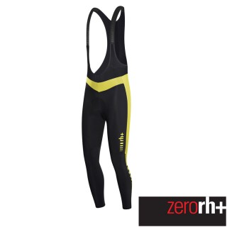 【ZeroRH+】義大利專業Logo EVO刷毛吊帶自行車褲(●黑/紅、黑/黃● ICU0438)