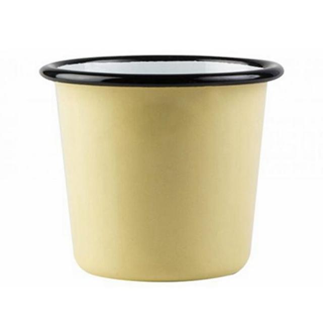 【芬蘭Muurla】基本黃琺瑯杯200cc-黃色(咖啡杯/琺瑯杯)