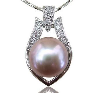 【小樂珠寶】頂然天然淡水珍珠墬鍊(優雅的珍珠項鍊讓人觀看千百回也不厭倦)