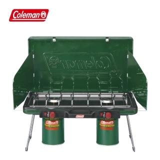 【COLEMAN】6707瓦斯雙口爐 綠色(CM-6707JM000)