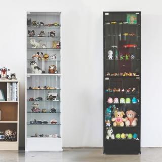 【樂活主義】加高180cm直立式玻璃櫃/展示櫃/公仔櫃/模型櫃/收納櫃(兩色可選)