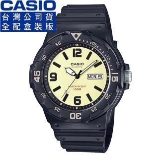 【CASIO】卡西歐運動錶-米白(MRW-200H-5B)