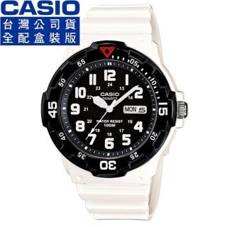 【CASIO】卡西歐運動錶-黑 X 白(MRW-200HC-7B)