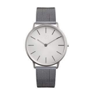 【ZOOM】THIN 極簡超薄米蘭腕錶(銀白 /42mm)
