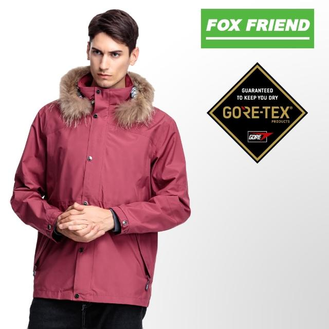【FOX FRIEND】毛條韓版 防水透氣GORE-TEX+不挑色羽絨 二合一外套(1091T)