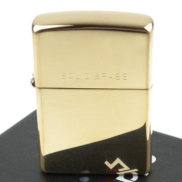 【ZIPPO】美系-Solid Brass-純銅高磨光金色鏡面(寬版)