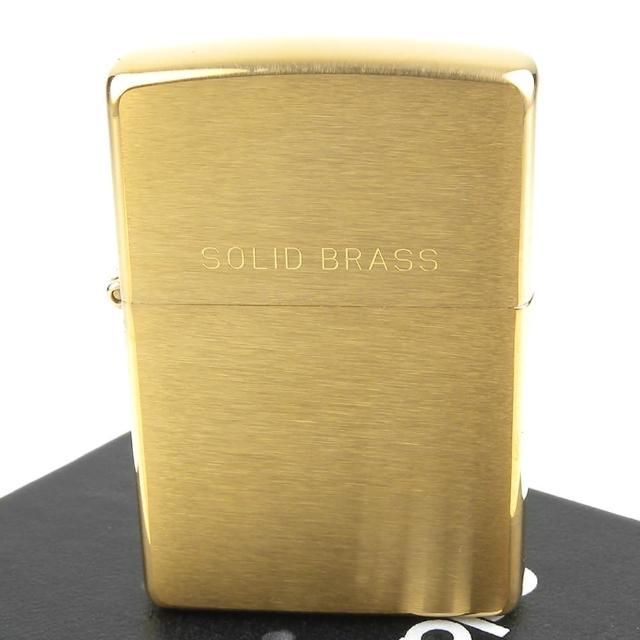 【ZIPPO】美系-Solid Brass-拉絲打磨金色霧面