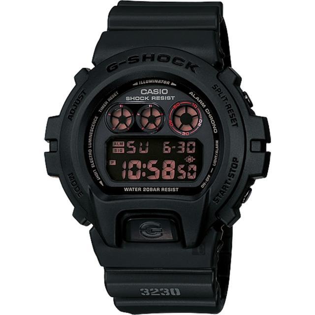 【CASIO】卡西歐 G-SHOCK 經典坦克腕錶-霧黑(DW-6900MS-1DR)