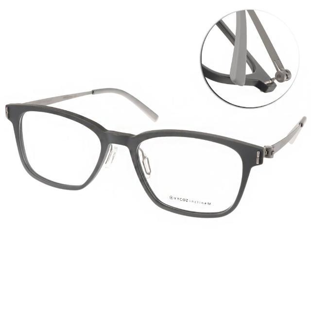 【VYCOZ 眼鏡】薄鋼圓框貓眼款(灰-銀#TOLY SIL-TITAN-G)