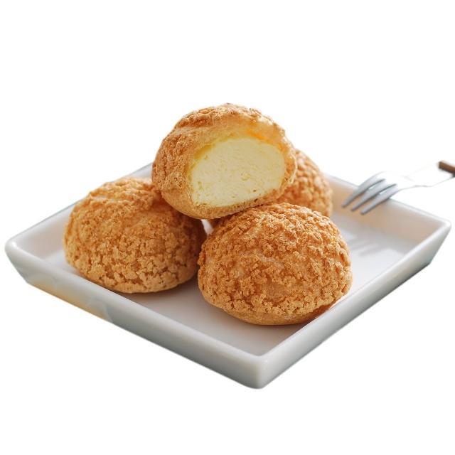 【豆酥朋】招牌綜合泡芙4盒任選組(原味、巧克力、咖啡、芝麻)