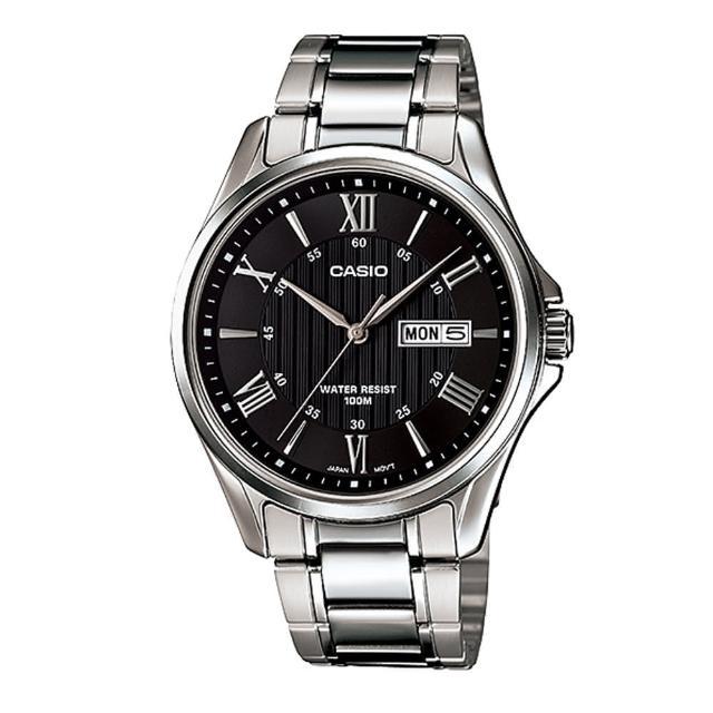 【CASIO】專業時尚羅馬紳士腕錶(MTP-1384D-1A)