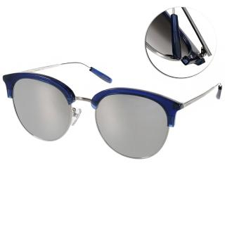 【PAUL HUEMAN 太陽眼鏡】韓系眉框水銀鏡面款(藍#PHS1070A C08)