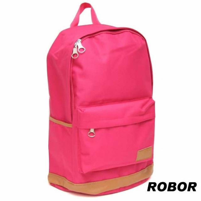 【韓系型男ROBOR】就愛簡約百搭時尚休閒風筆電後背包(梅紅)