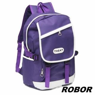 【韓系型男ROBOR】潮流百搭休閒簡約後背包(紫色)