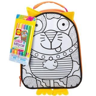 【美國ALEX】創意彩繪午餐袋(寶貝貓)