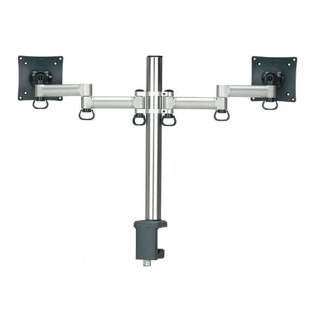 【FOGIM】夾桌懸臂式液晶螢幕支架-雙螢幕 終身保固(TKLA-6032-SM)