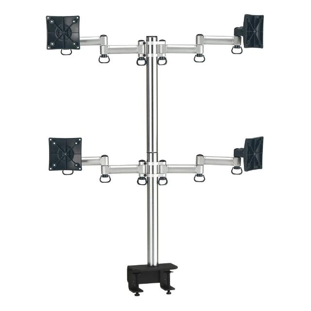 【FOGIM】夾桌懸臂式液晶螢幕支架-四螢幕 終身保固(TKLA-6034-SM)
