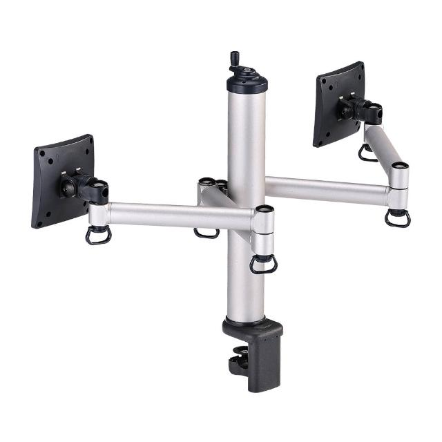 【FOGIM】夾桌旋轉式液晶螢幕支架-雙螢幕 終身保固(TKLA-1222-S)