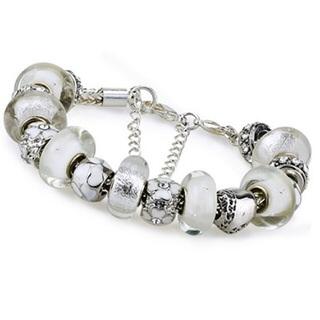 ~米蘭 ~潘朵拉元素串珠手鍊 飾品 純淨白色 別緻母親節情人節生日 73ay104
