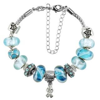 ~米蘭 ~潘朵拉元素串珠手鍊 飾品 素雅藍色 別緻母親節情人節生日 73ay128