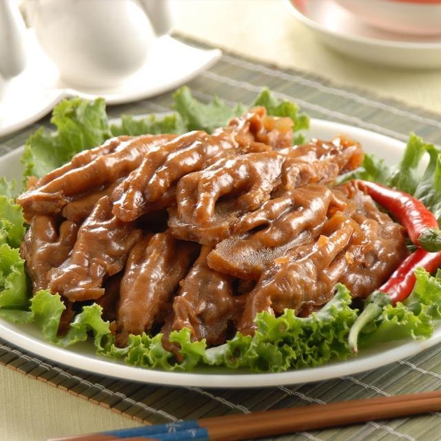 【鮮食家任選799】鬍鬚林滷味 原味雞腳凍(200g±5%/盒)