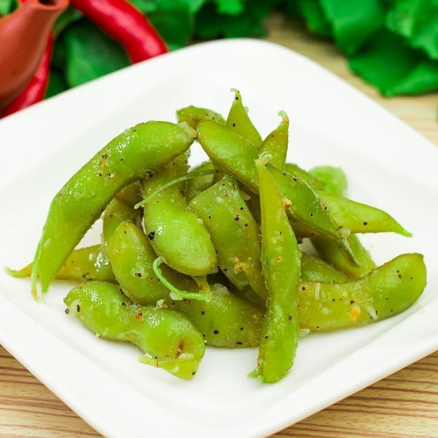 【鮮食家任選799】鬍鬚林滷味 蒜味毛豆(150g±5%/盒)