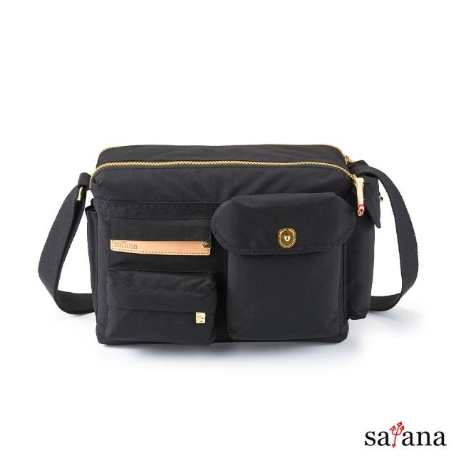 【satana】簡單生活斜肩包(黑色)
