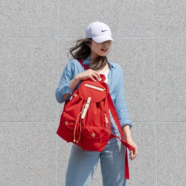 【satana】休閒束口後背包(紅色)
